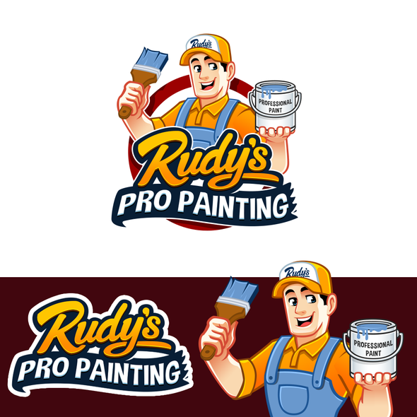 Painter design with the title 'Professional Painting Company '