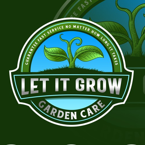 Growing logo with the title 'Let it grow Garden Care'