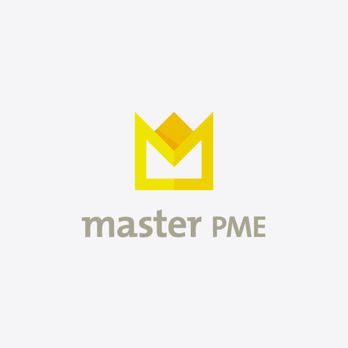 3D gold logo with the title 'Geometric Crown'