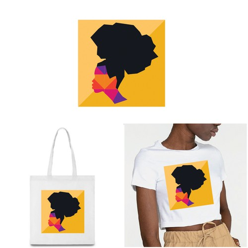 Beautiful artwork with the title 'Apparel/Textile Designs - Women of Color Inspired Designs'
