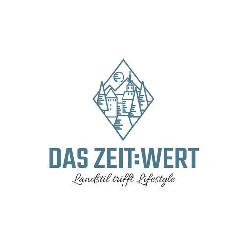Cottage logo with the title 'Logo Für ein Hotel '