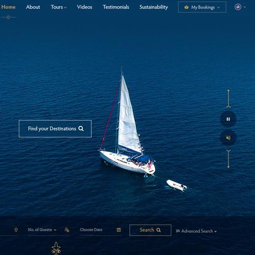 Italian design with the title 'Luxury Travel Company Website Design'