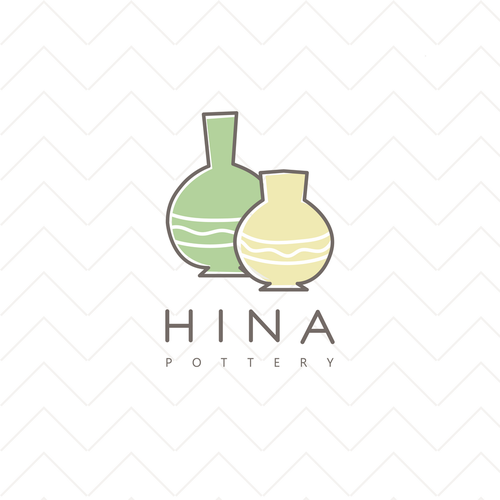 Pottery logo with the title 'Hina'