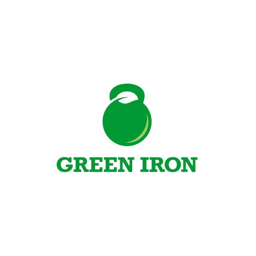 Kettlebell design with the title 'Green Iron'