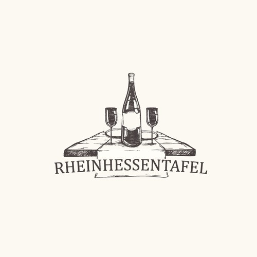 Diner design with the title 'Wine-Dine old fashion logo'