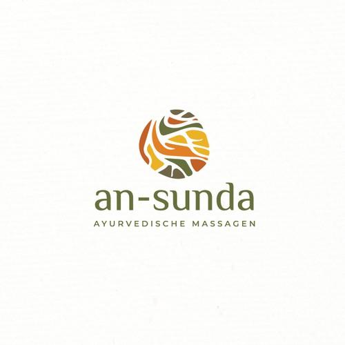 Root design with the title 'Logo design for Holistic Alternative Medical Massage (Ayurveda)'