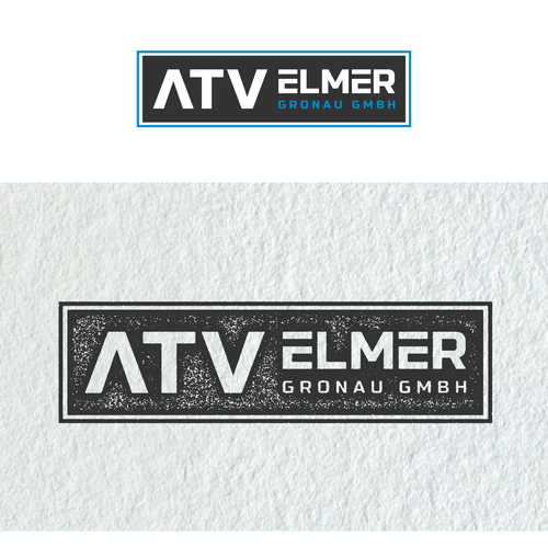 German design with the title 'Blocky logo designed for automotive accessory company out of Germany'