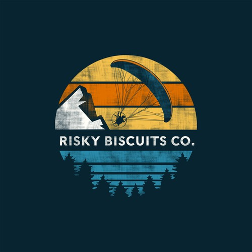 Adventure t-shirt with the title 'Risky Biscuits co.'