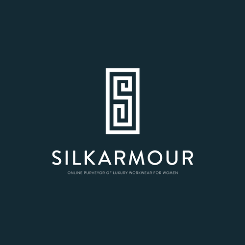 Textile design with the title 'Logo Design for Silkarmour'