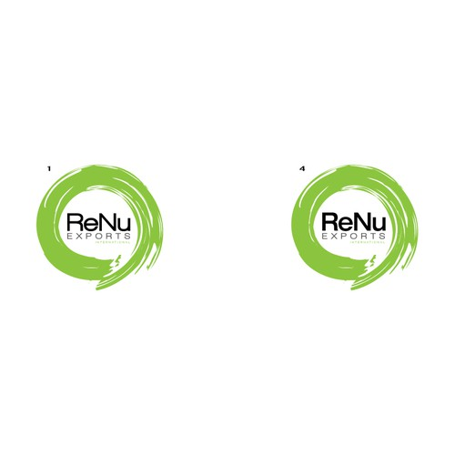 Product design with the title 'Logo Design for ReNu Exports'