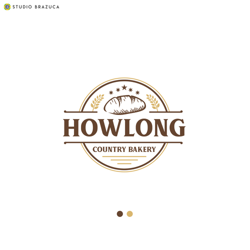 "Bakery logo with the title 'Winner of ""Howlong"" Contest'"