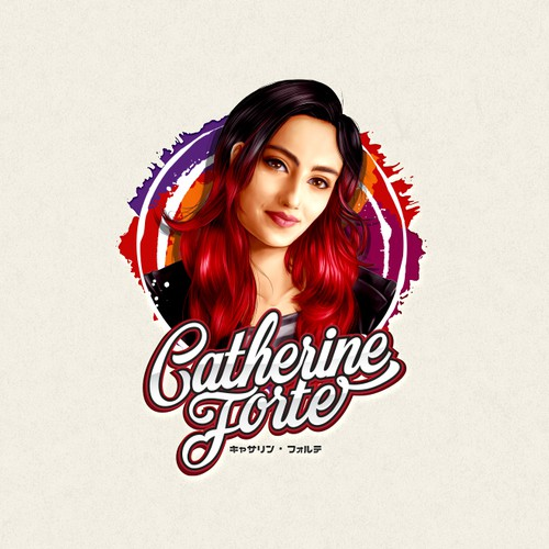 Realistic logo with the title 'Logo and Animated Intro for Singer, songwriter & performer Catherine Forte'