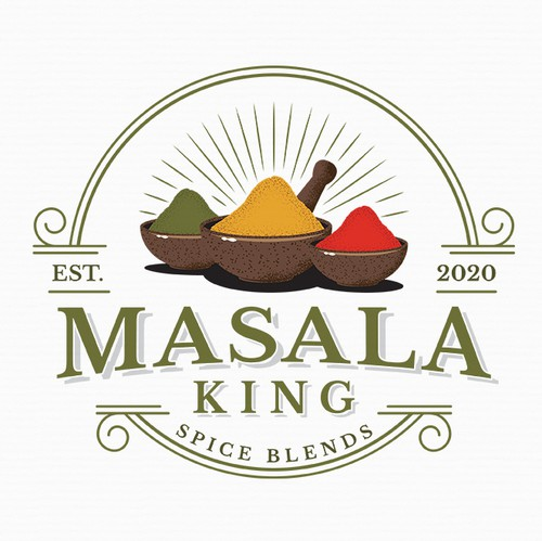Indian logo with the title 'Logo For Masala King'