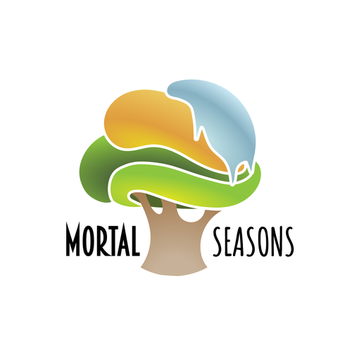 Fall logo with the title 'MORTAL SEASONS Logo'