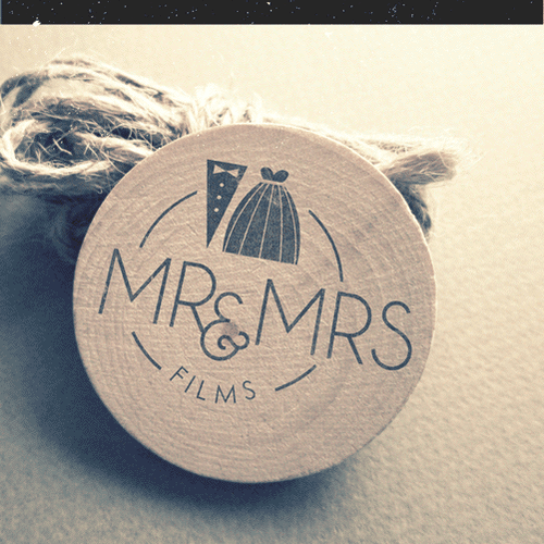 Dress logo with the title 'Chilled and rustic Wedding Film Logo'