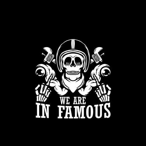 Gangster logo with the title 'Famaous Logo'