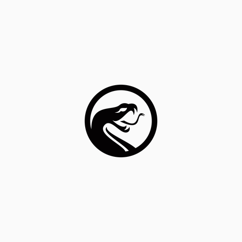 Python design with the title 'Snake logo'