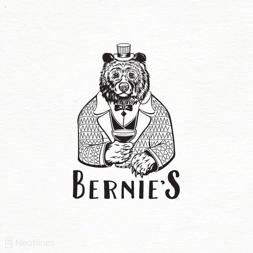 Restaurant logo with the title 'Bernie's '