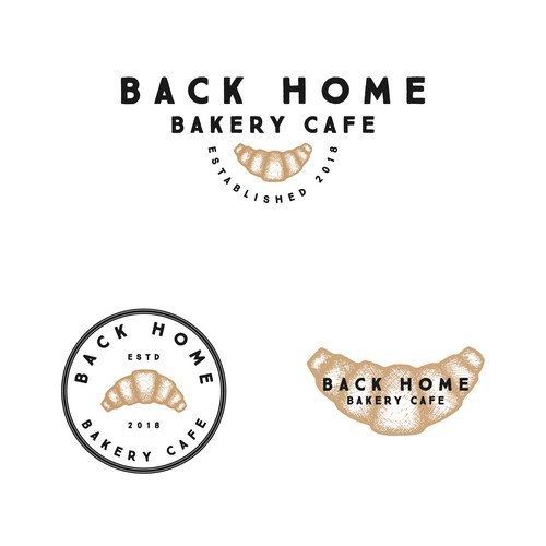 Pretzel logo with the title 'Back Home Bakery Cafe'