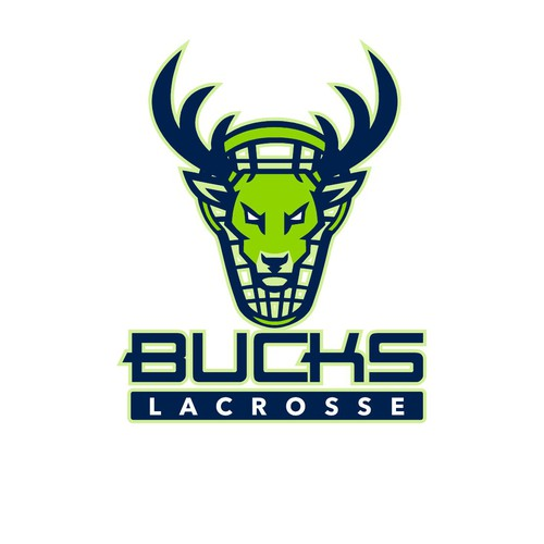 Stag design with the title 'Bucks Lacrosse'
