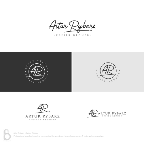 Cursive logo with the title 'Signature Logo for Artur Rybarz - Freier Redner'
