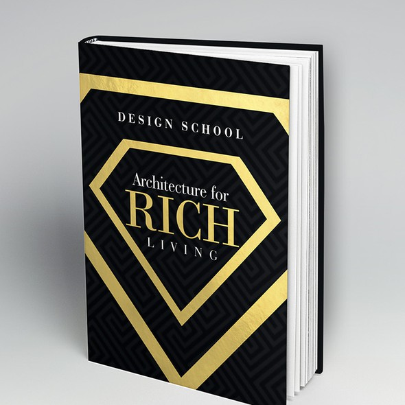 Rich design with the title 'Book cover'