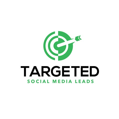 Bullseye logo with the title 'Targeted Social Media leads'