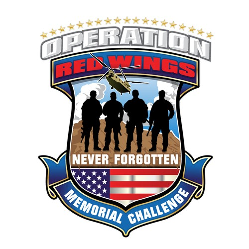 Patriotic logo with the title 'Operation Red Wings'