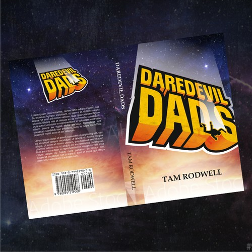 Dad design with the title 'I need a book cover for 'Daredevil Dads''