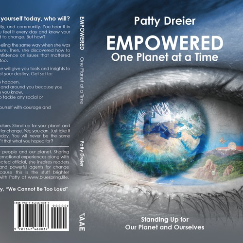Climate change design with the title ' Empowered: One Planet at a Time by Patty Dreier'