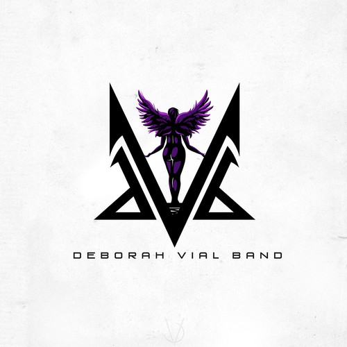 Angel wing design with the title 'Deborah Vial Band'