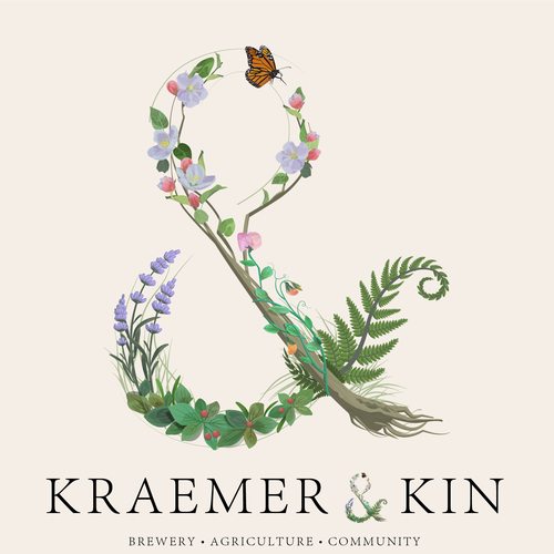 Letter illustration with the title 'Floral ampersand design'