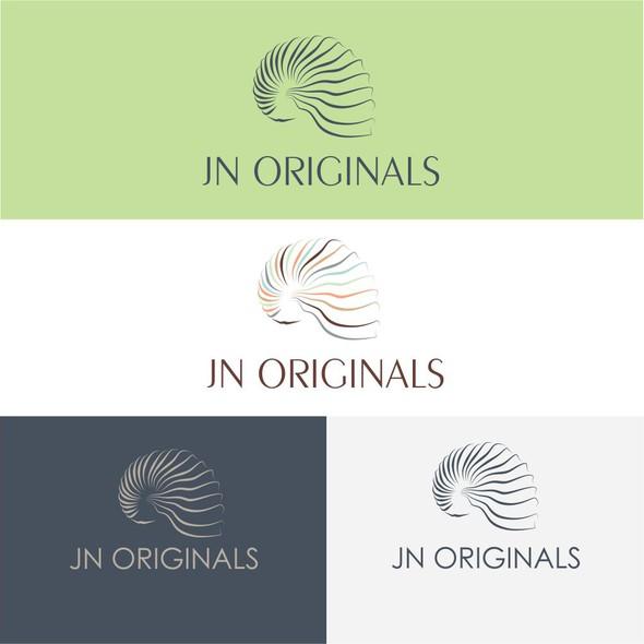 Nautilus design with the title 'logo for JN Originals'