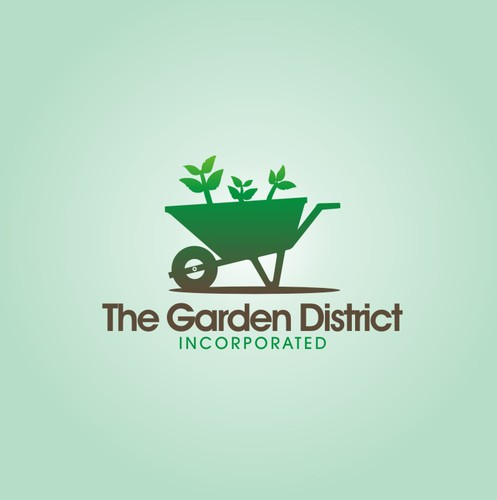 Garden design with the title 'Create an appealing & creative design for the landscape and garden company, The Garden District, Inc.'