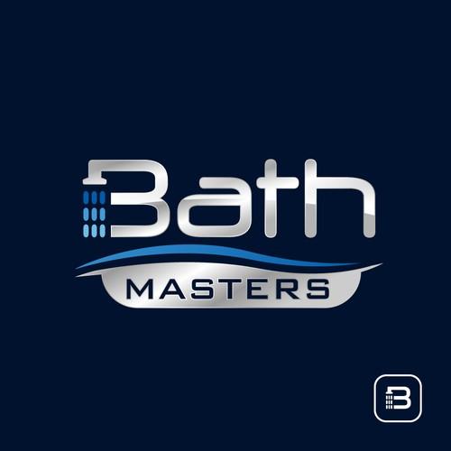 Metallic logo with the title 'Bath Logo Design'