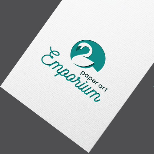 Gentle logo with the title 'Logo in Origami style for paper store'