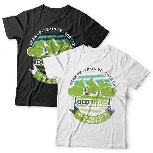 Green t-shirt with the title 'T shirt design for locoropes'
