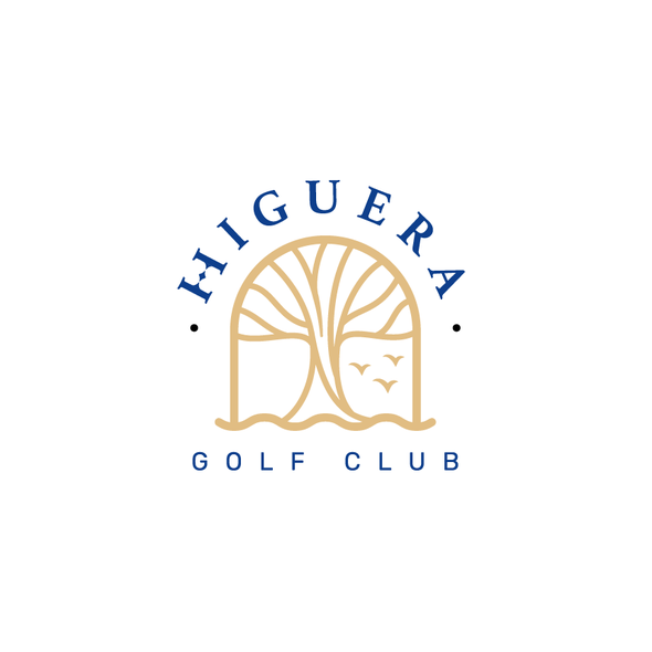 Golf brand with the title 'Organic shape logo for a golf course in Riviera Nayarit'