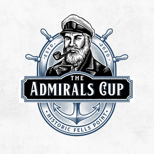 Marine design with the title 'The Admirals Cup'