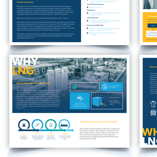 Slide design with the title 'Brochure design'