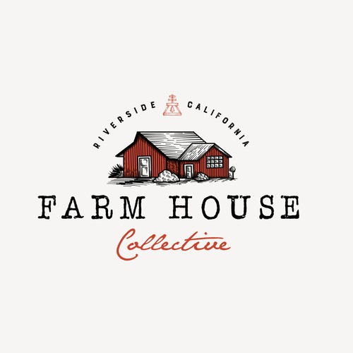 Barn logo with the title 'Farm House Collective'