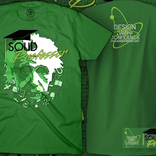 Einstein design with the title 'Solid Professor Website T-Shirt'