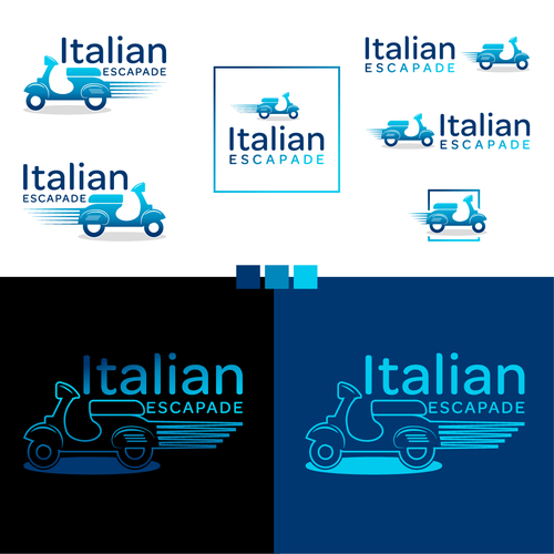 Scooter design with the title 'Logo for Touristic Company in Italy'