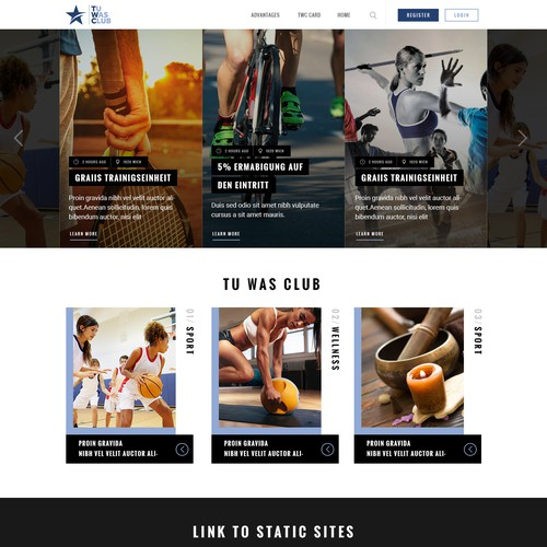 Bold website with the title 'Fitness Website design '