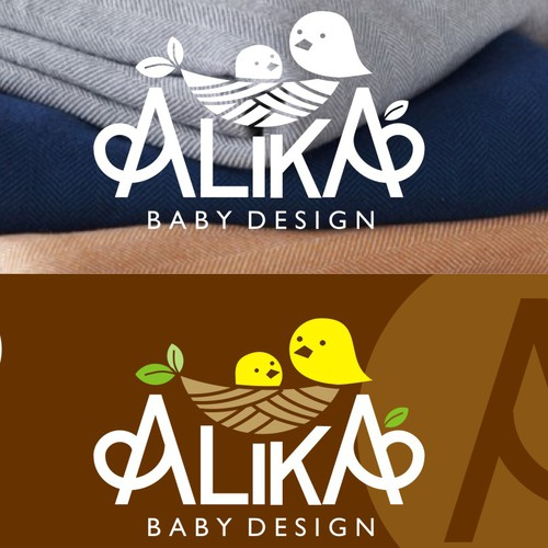 Funny brand with the title 'Natural and Cute logo for Alika'