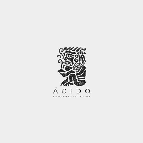 Burrito logo with the title 'Ácido | Bar & Restaurant'