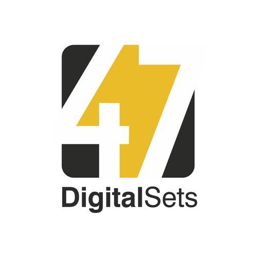 Digital art logo with the title '47 Digital Sets'
