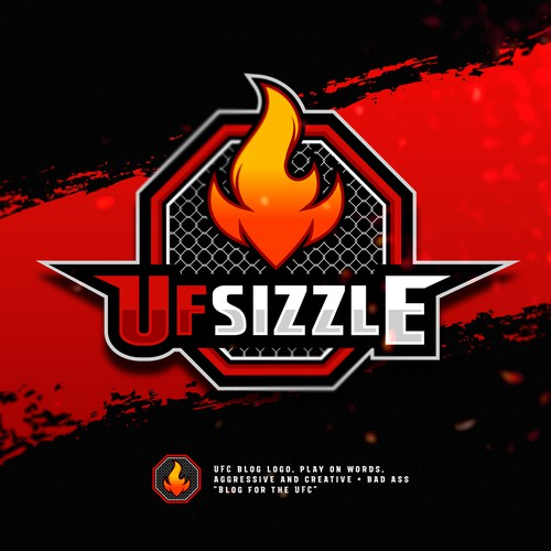 Sports design with the title 'UFC blog logo for UFSizzle'