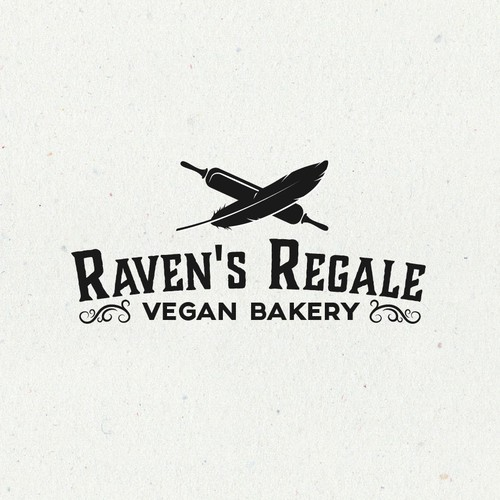 Vegan logo with the title 'Aesthetic and elegance logo for vegan bakery.'