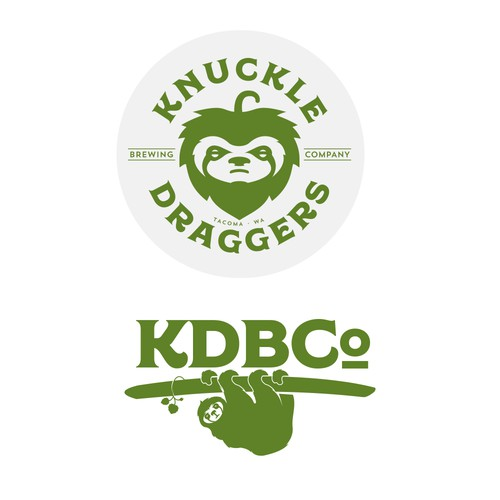 Hop design with the title 'Knucke Draggers Brewing Co'
